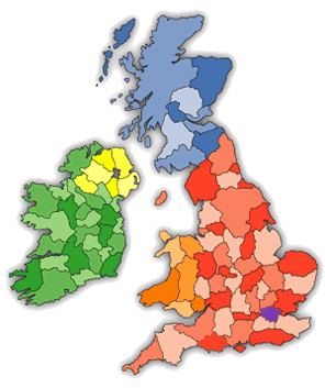 UK County Map